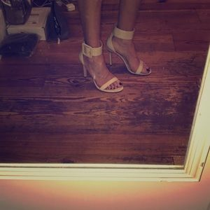 Size 9 patent heels by Guess with ankle strap